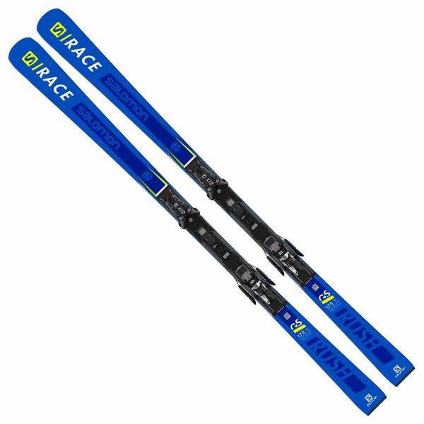 Ski Set Salomon S/Race Rush GS P80 X + X12 Lab x70 - blue/yellow