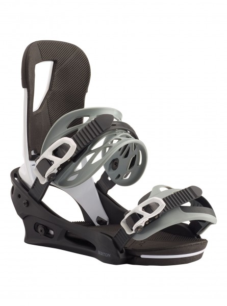 Burton Snowboardbindung Cartel - black/white