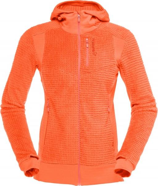 Norrona Lofoten Alpha Raw Zip Hoodie Women -orange alert
