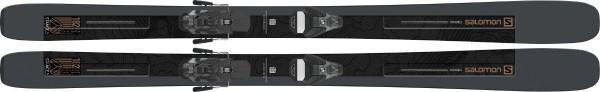 Ski Set Salomon T Stance 96 plus Bindung STH2 WTR 13 C - dark/brown/black