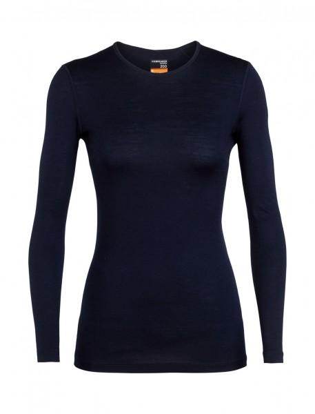 Icebreaker Merino Womens 200 Oasis LS Crewe Women - black