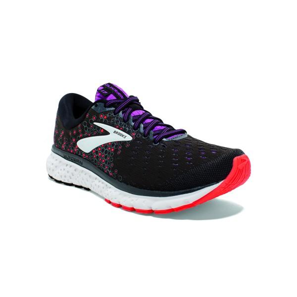 Brooks Glycerin 17 Damen black/Fiery Coral/Purple