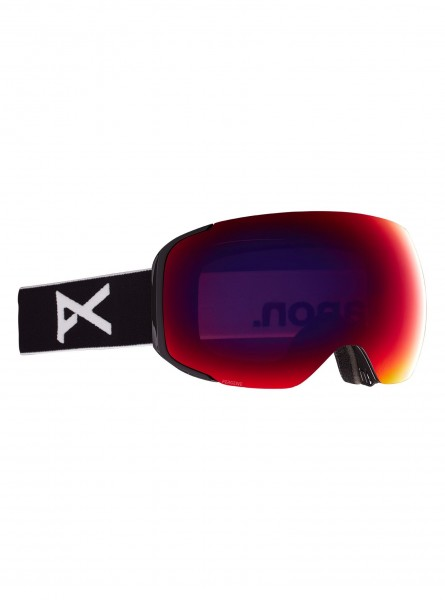 Anon M2 Goggle + Bonusglas + Face Mask- Black/Perceive Sunny Red