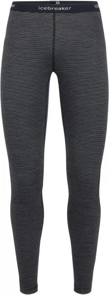 Icebreaker Merino Womens 200 Oasis Leggings - black/snow/stripe