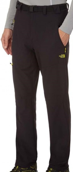 The North Face Mens Paseo Pant - tnf black/ acid yellow