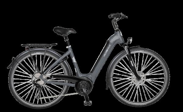 E-Bike Velo de Ville AEB 490 inTube Allround 9-Gang Deore - anthrazit glanz