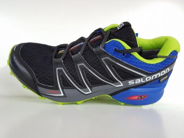 Salomon Speedcross Vario GTX Men -black/blue yonder/granny green