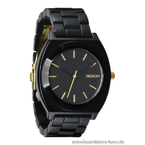 Nixon Time Teller Acetate -all black / gold