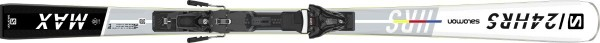 Ski Set Salomon E 24 Hours Max plus Z12 GW L80 - white/black/silver