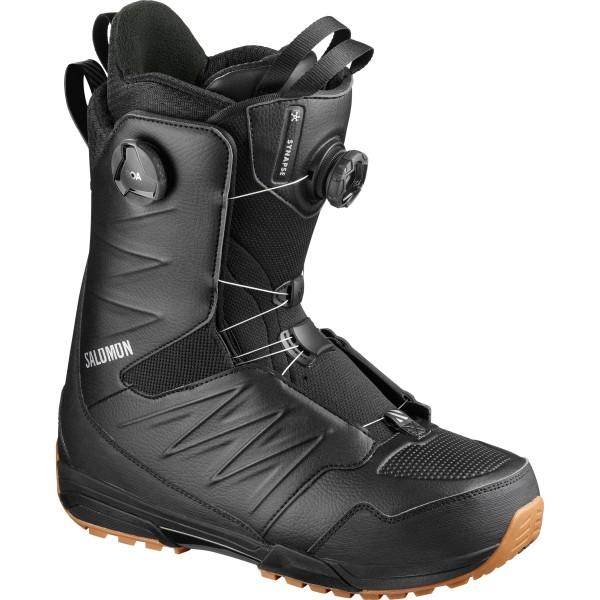 Snowboardboots Herren Salomon Synapse Focus Boa 2020 - black/black/gum