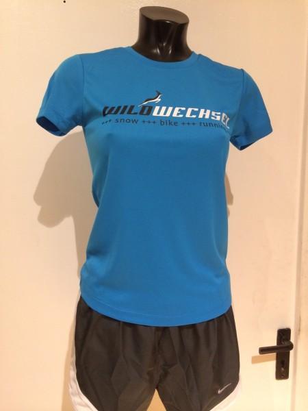 Wildwechsel Running Shirt Women - saphire blue