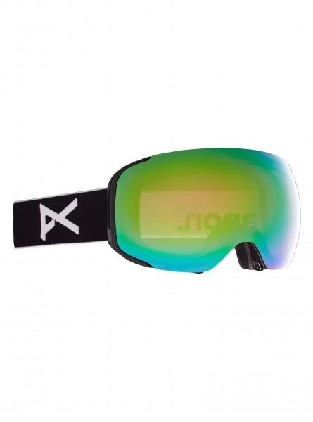 Anon M2 Goggle + Bonusglas + Face Mask- Black/Preceive Variable Green