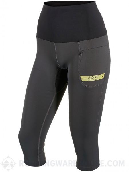 Gore Running Wear Air Lady Tight 3/4 - ravenbrown/ cadmium yellow