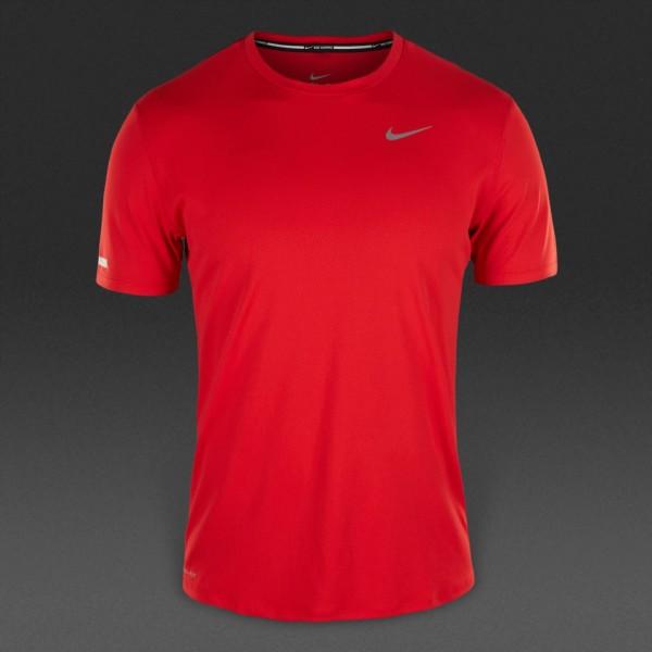 Nike Dri-Fit Contour SS -university red/reflective