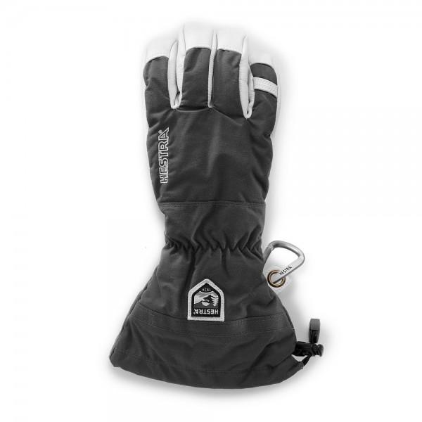 Hestra Army Leather Heli Ski 5 Finger Glove -grey
