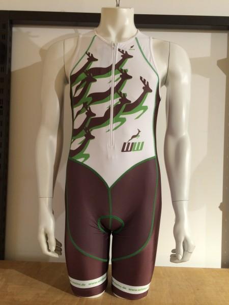 Triathlon Einteiler X-Elite Team Wildwechsel Men - brown/ green