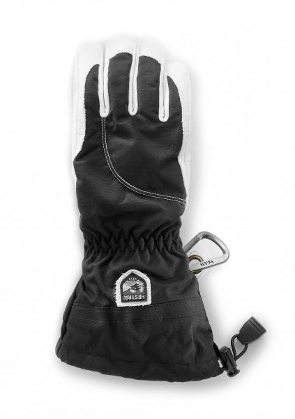 Hestra Heli Ski Female 5 Finger Glove - black/ offwhite