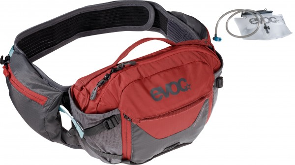Evoc Hip Pack Pro 3 Liter + 1,5 Liter Bladder - carbon grey/chili red
