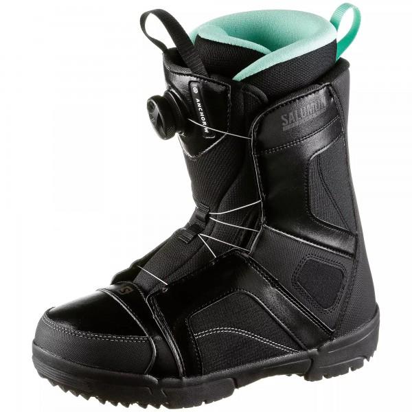 Snowboardboots Damen Salomon Anchor -black/black/opal