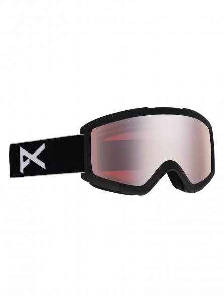 Anon Helix 2.0 Goggle + Bonusglas- Black/ Silver Amber
