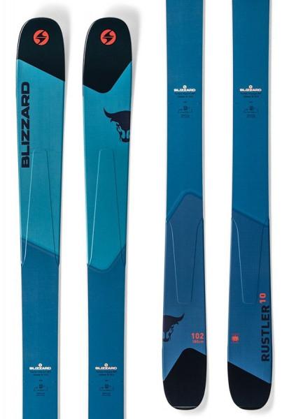 Blizzard Rustler 10 Freerideski (Flat) - light blue