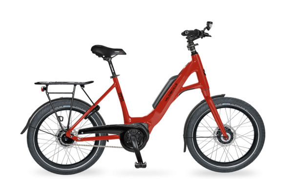 E-Bike Velo de Ville KEB 800 Kompakt 5-Gang Nexus Rücktritt - wine red