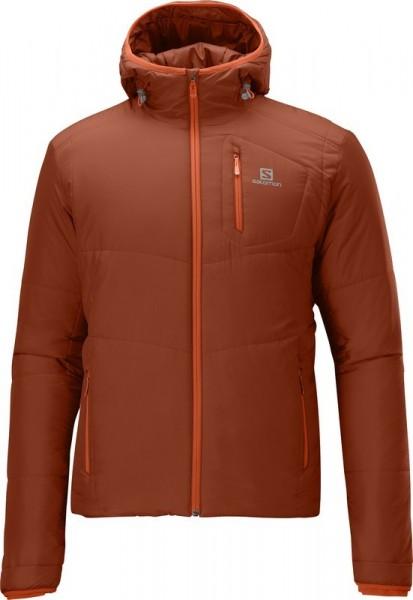 Salomon insulated Hoodie Jacket Men -moab orange