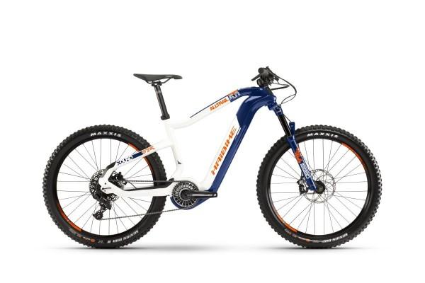 Haibike E-Mountainbike XDuro Alltrail 5.0 2020 - blau/weiß/orange