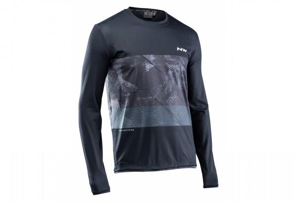 Northwave XTrail Man Jersey Longsleeve - black/grey/white
