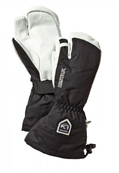 Hestra Army Leather Heli Ski 3-Finger -black