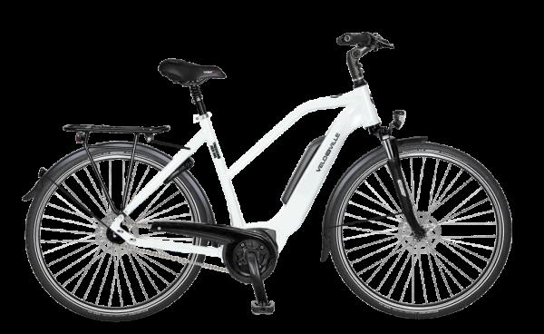 E-Bike Velo de Ville AEB 800 Allround 5-Gang Nexus Freilauf - pure white