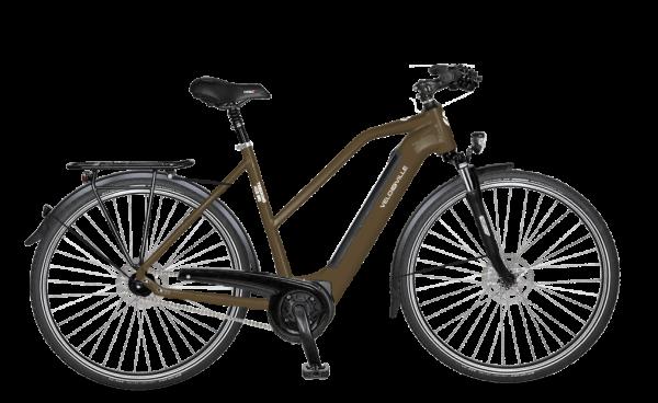 E-Bike Velo de Ville AEB 990 Intube Allround 5-Gang Nexus Freilauf - mocca brown