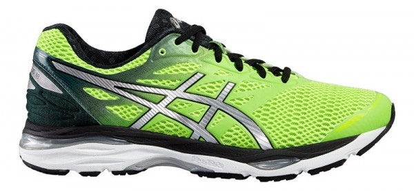 Asics Gel Cumulus 18 Herren - green gecko/silver/safety yellow