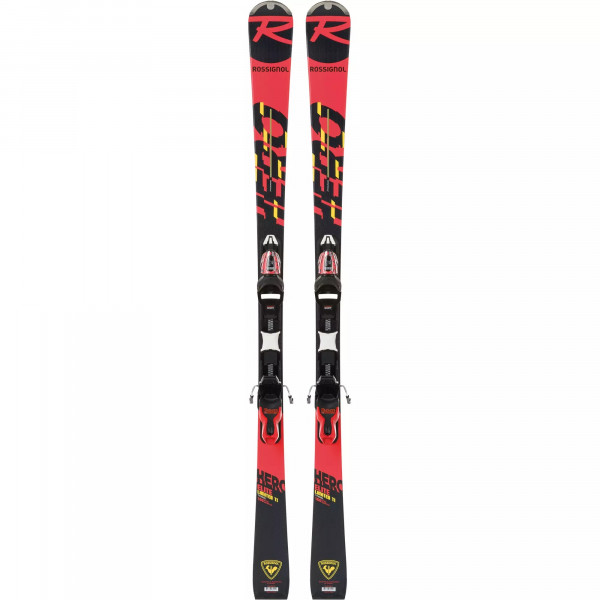 Rossignol Ski Set Hero LTD + XP11 GW - black/hot red