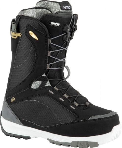 Nitro Damen Snowboardboots Monarch TLS 2021- black-white-grey
