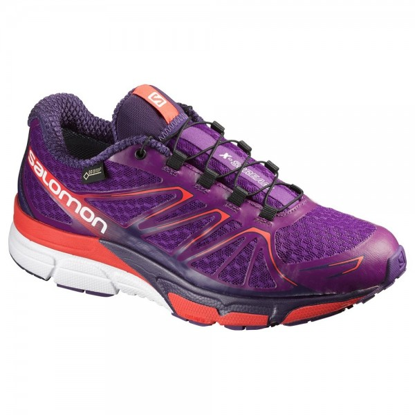 Salomon X-Scream Flare GTX Women - passion purple/coral punch/white