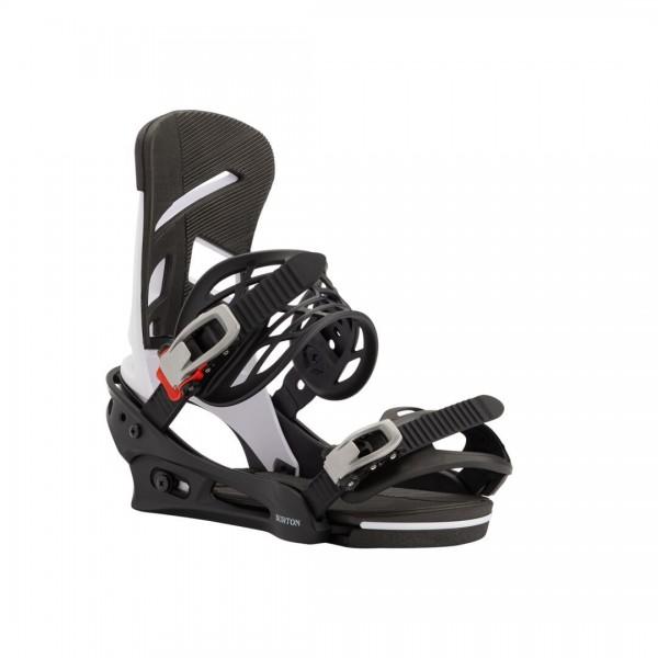 Burton Snowboardbindung Mission 20/21 - white/black